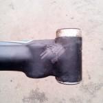Карбоновая рама велосипеда до ремонта