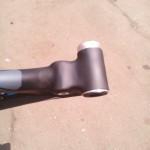 Карбоновая рама велосипеда CUBE после нашего ремонта